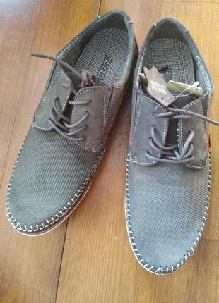 Мокасини туфлі натуральний нубук
