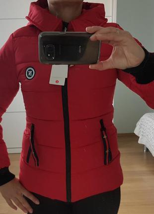 Стильная, утепленная куртка, спортивного типа, р. xs, s, m, l