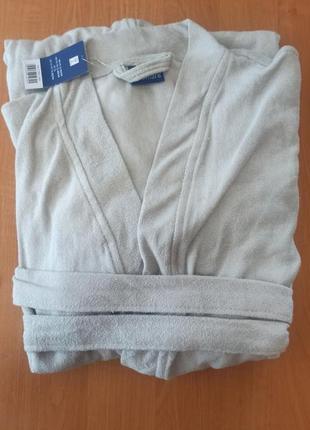 Натуральный махровый мужской халат кимоно miomare германия р. l