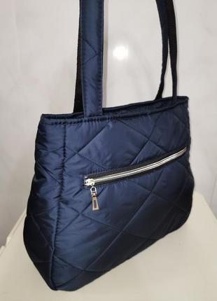 Стеганная сумка на плечо женская