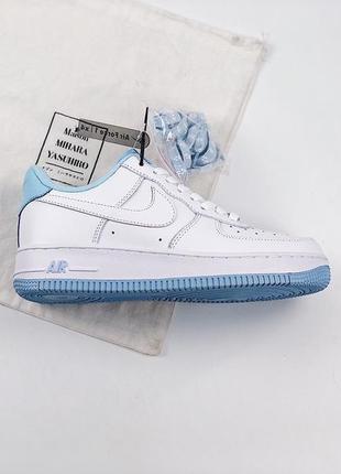 "Кроссовки n1ke air force 1 low ""white hydrogen blue"