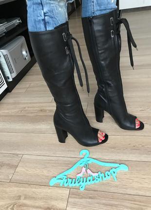 Эксклюзивные кожаные сапоги top shop