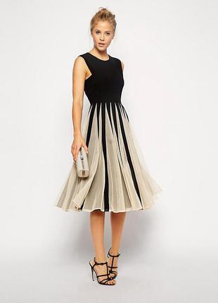 Неймовірно гарна вишукана сукня міді від asos