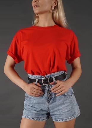 Базовая oversize футболка 100% хлопок однотонная//33 цвета//❤️