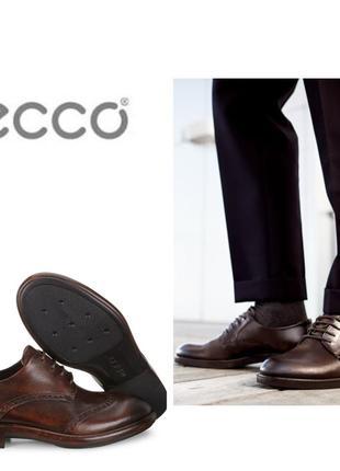 Кожаные туфли броги экко ecco vitrus artisan i оригинал р.46 новые португалия1 фото
