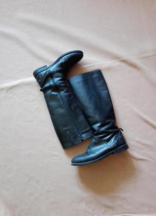 Кожаные демисезонные сапоги 38 размер