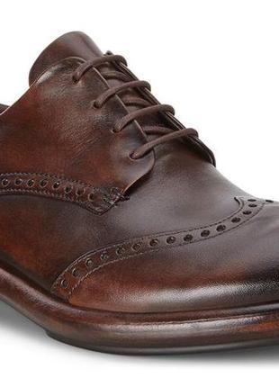 Кожаные туфли броги экко ecco vitrus artisan i оригинал р.46 новые португалия2 фото