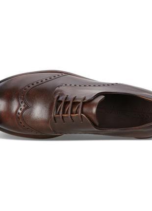 Кожаные туфли броги экко ecco vitrus artisan i оригинал р.46 новые португалия3 фото