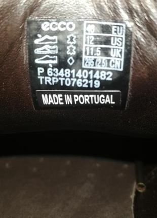 Кожаные туфли броги экко ecco vitrus artisan i оригинал р.46 новые португалия9 фото