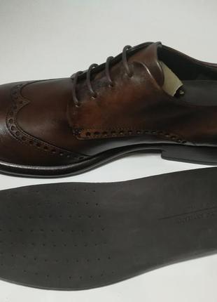 Кожаные туфли броги экко ecco vitrus artisan i оригинал р.46 новые португалия5 фото