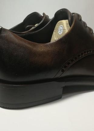 Кожаные туфли броги экко ecco vitrus artisan i оригинал р.46 новые португалия6 фото