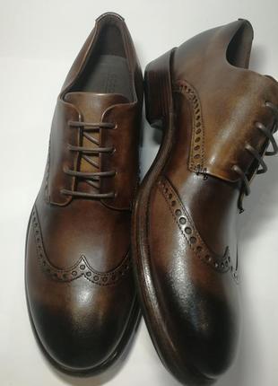 Кожаные туфли броги экко ecco vitrus artisan i оригинал р.46 новые португалия7 фото
