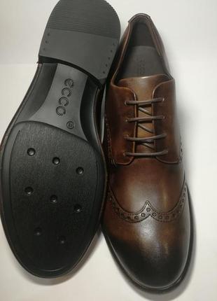 Кожаные туфли броги экко ecco vitrus artisan i оригинал р.46 новые португалия10 фото