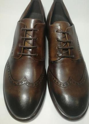 Кожаные туфли броги экко ecco vitrus artisan i оригинал р.46 новые португалия4 фото