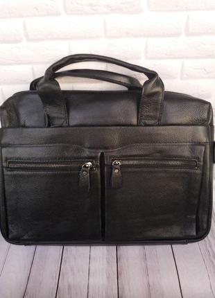 Мужской кожаный портфель из натуральной кожи чоловічий шкіряний сумка кожаная мужская