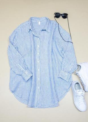 Объемная льняная рубашка