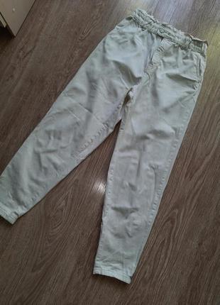 Летние момы бойфренды белые свободные джинсы слоучи