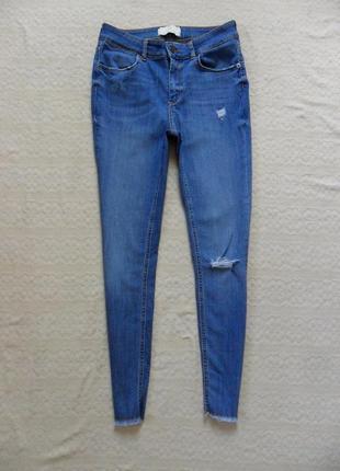 Стильные джинсы скинни с высокой талией pieces, m размер.