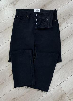 Чёрные джинсы zara высокая посадка