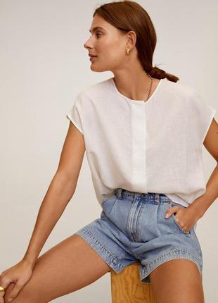 Льняная блуза mango