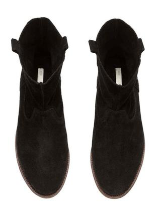 Натуральные замшевые ботинки h&m premium quality 38  размер