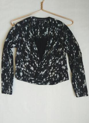 Пиджак укороченный косуха с отворотами