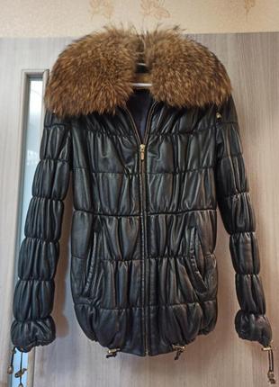 Кожаная куртка + натуральный мех
