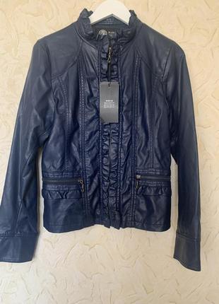 Натуральная кожаная куртка с бирками