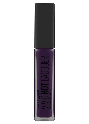 Блеск для губ с глянцевым эффектом maybelline vivid hot lacquer, оттенок 82 slay it
