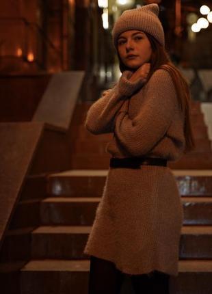 Плаття зимове / шерстяное платье зимнее вязане в'язане