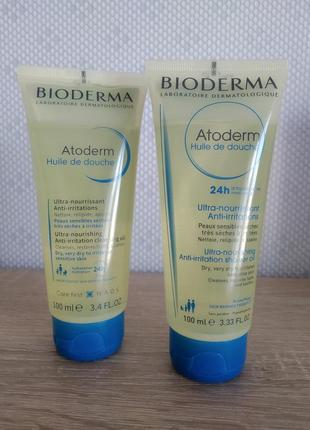 Bioderma atoderm масло для душа