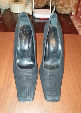 Туфли замшевые итальянские женские
