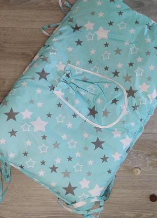 Бортики (защита) в  детскую кроватку , цвета в ассортименте