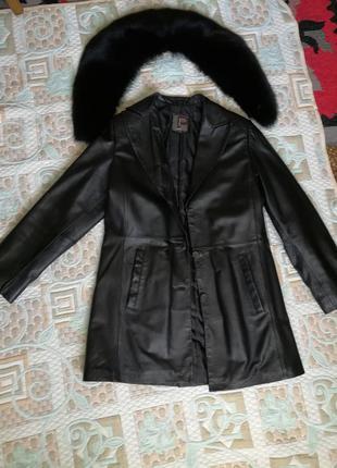 Пальто (кожа)