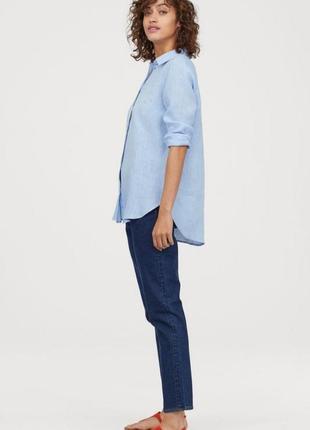 Premium quality рубашка из льняной ткани h&m