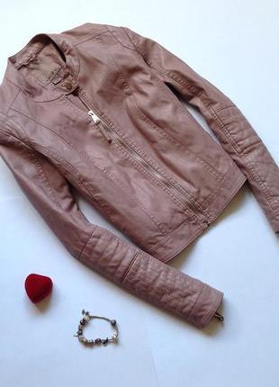 Нежная куртка amisu цвета пудры