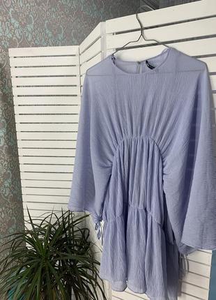 Воздушное платье нежно голубое