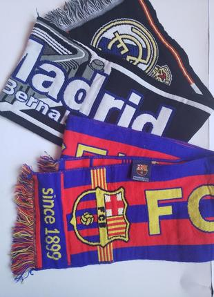 Футбольний шарф scarf football barcelona real madrid