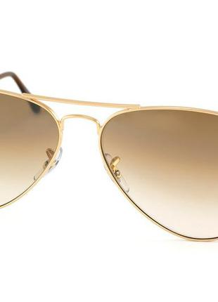 Новые очки авиаторы ray ban ray-ban aviator large metal rb3025 001/51