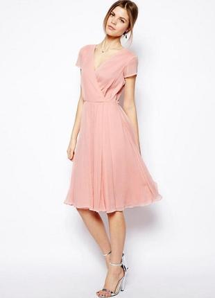 Asos шикарное шифоновое платье