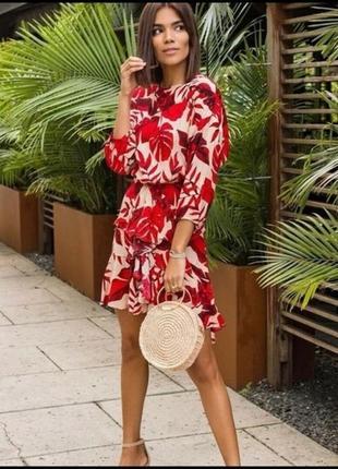 Яркое модное платье коллаборация johanna ortiz x h&m
