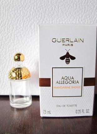 Туалетная вода guerlain aqua allegoria mandarine basilic пустой флакон 7,5 мл