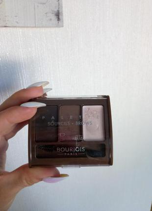 Набор для моделирования бровей bourjois brows palette brunette.