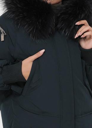 """Зимняя куртка с натуральным мехом """"енот""""6 фото"""