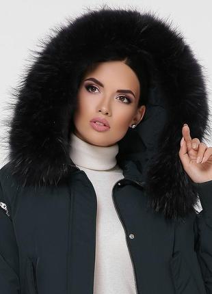 """Зимняя куртка с натуральным мехом """"енот""""2 фото"""