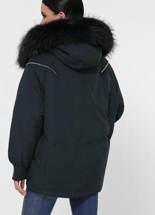 """Зимняя куртка с натуральным мехом """"енот""""5 фото"""