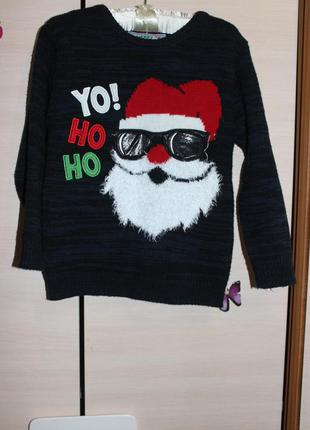 Стильная новогодняя кофта свитер rebel