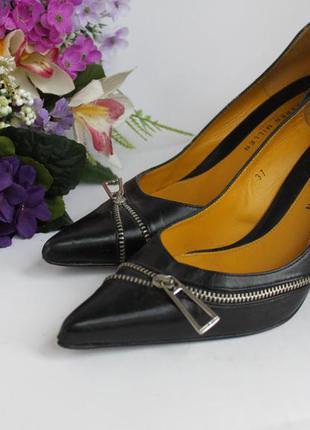 Классические кожаные туфли лодочки, натуральная кожа,