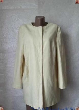 Фирменный dunnes кардиган/удлинённый пиджак на 60%хлопок в лимонном цвете, размер 2хл