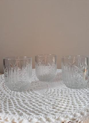 Стаканы хрустальные, криворожсталь, стакани кришталеві, ссср, винтаж